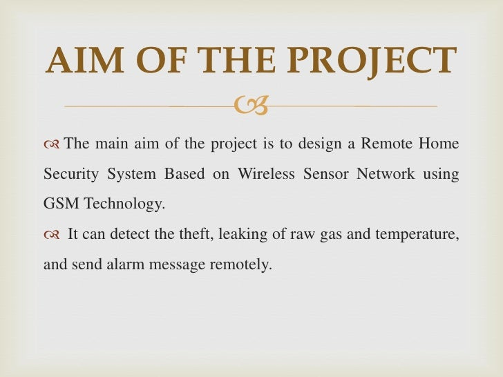 Home security system projects