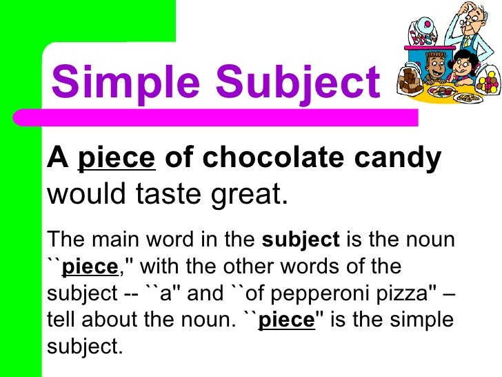 Simple and Compound Subjects and Predicates- Unit 1