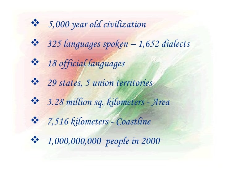 Development of india ppt template