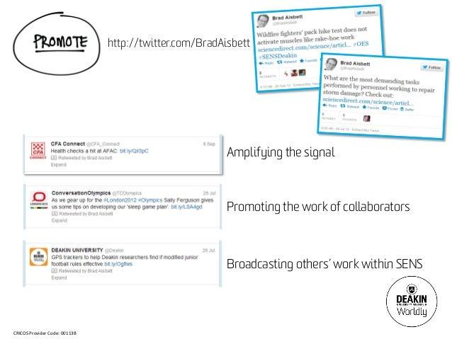 http://twitter.com/BradAisbett                                                        Amplifying the signal               ...