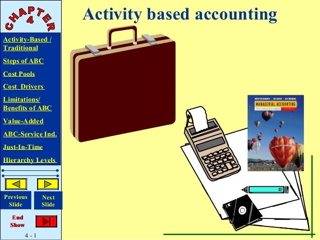 Activity based accountingActivity-Based /TraditionalSteps of ABCCost PoolsCost DriversLimitations/Benefits of ABCValue-Add...