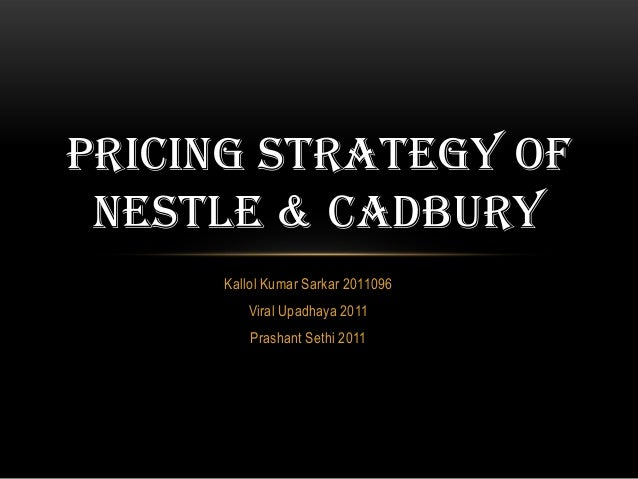 cadbury india pricing strategy This case study looks at the strategies used to win customers in china and india on march 6, 2012, the famous cookie of cadbury in 2009 provided.
