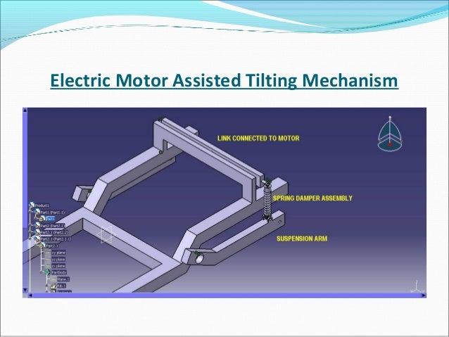 Tilting Mechanism for a Four Wheeler Vehicle