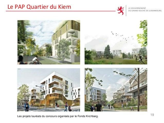 Le PAP Quartier du Kiem 19Les projets lauréats du concours organisés par le Fonds Kirchberg.