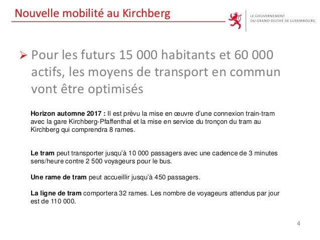 Nouvelle mobilité au Kirchberg  Pour les futurs 15 000 habitants et 60 000 actifs, les moyens de transport en commun vont...