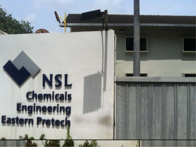 Experience at NSL Chemical Slide 3