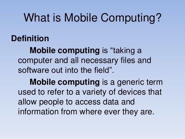 Mobile computing ppt.