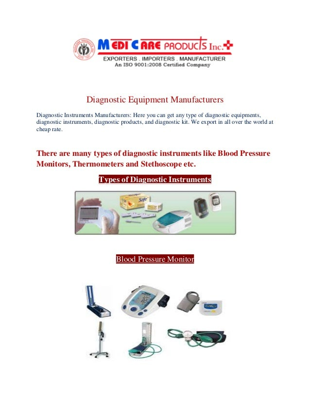 Diagnostic Equipment Manufacturers Diagnostic Instruments Manufacturers: Here you can get any type of diagnostic equipment...