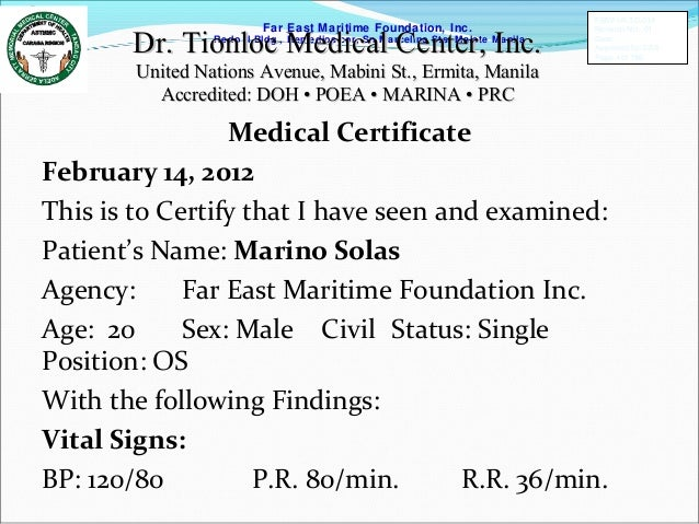Sample medical certificate letter doctor gallery certificate sample medical certificate letter philippines image collections medical certificate sample for students in the philippines gallery yelopaper Gallery