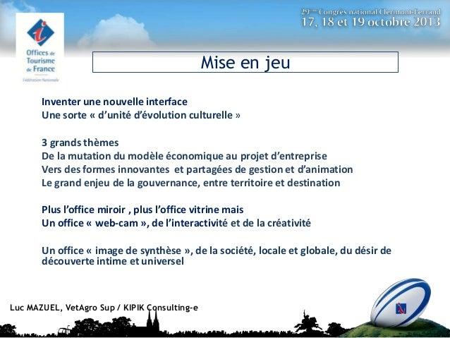 Synthèse des Ateliers Luc Mazuel  Slide 3