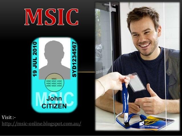 Visit :http://msic-online.blogspot.com.au/