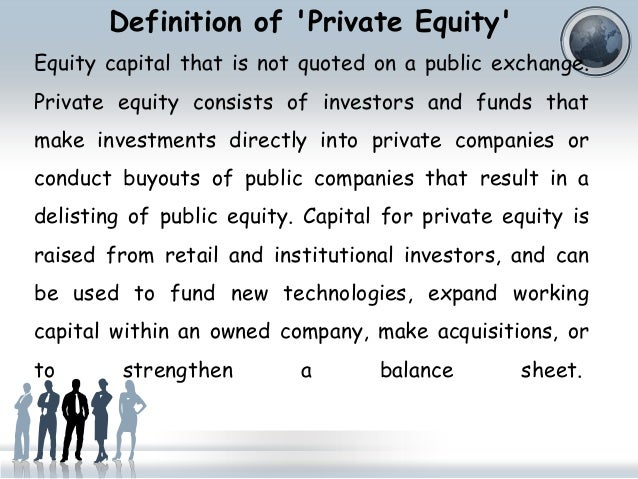 Definition Of U0027Private Equityu0027 ...