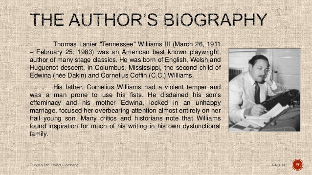 tennessee williams biography ppt