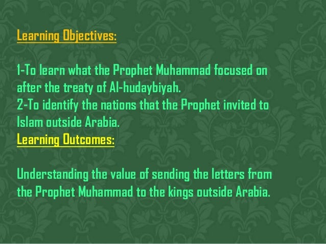 Prophet Muhammad Reaches out to Arabia Slide 2