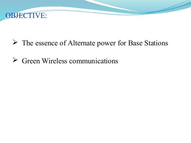 alternate power for base stations Slide 2