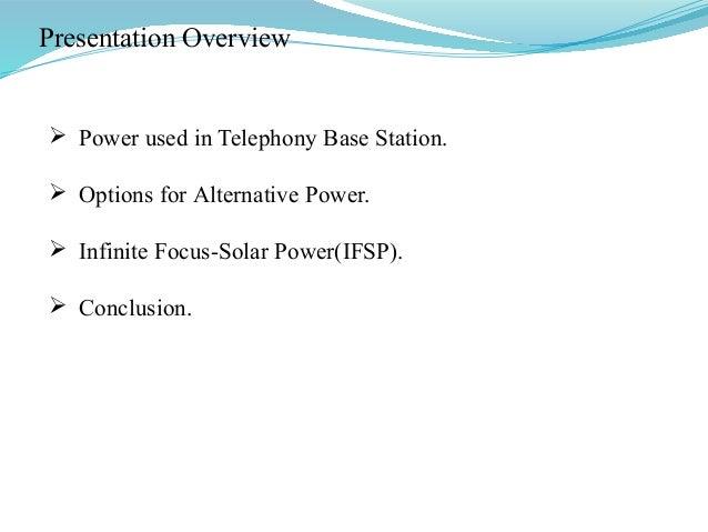 alternate power for base stations Slide 3