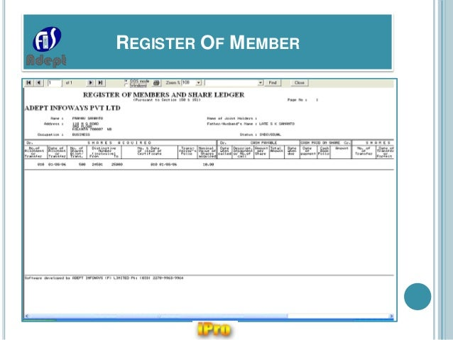 shareholder register template