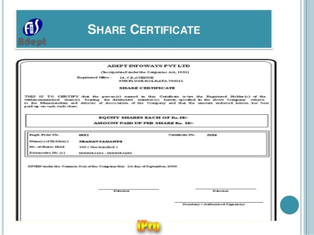 ... Stationary; 23. SHARE CERTIFICATE ...  Company Share Certificates