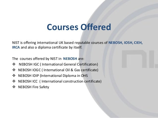 Ppt nebosh igc course in kochi powerpoint presentation id:7608279.