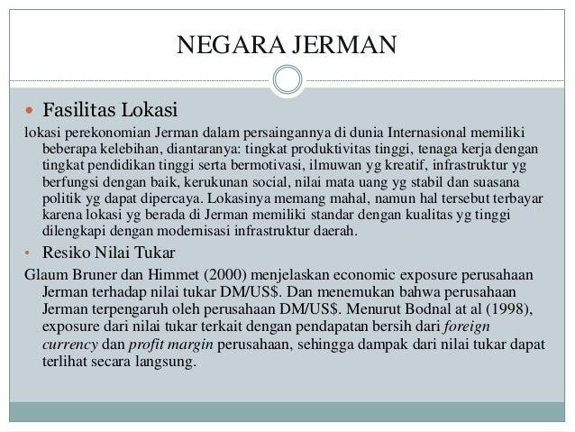 NEGARA JERMAN  Fasilitas Lokasi lokasi perekonomian Jerman dalam persaingannya di dunia Internasional memiliki beberapa k...