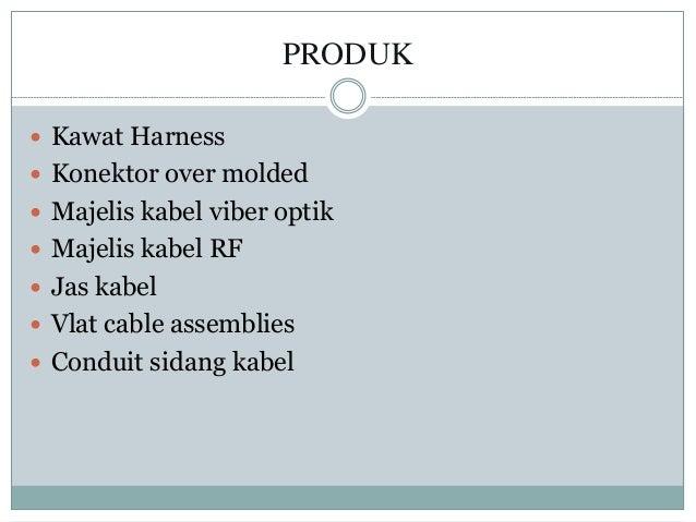 PRODUK  Kawat Harness  Konektor over molded  Majelis kabel viber optik  Majelis kabel RF  Jas kabel  Vlat cable asse...