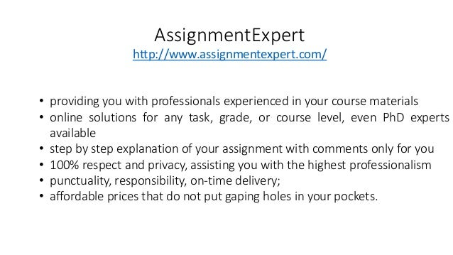 Expert assignment writing bangalore