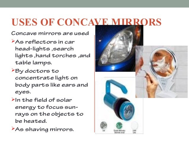 why are concave mirrors used in solar reflectors