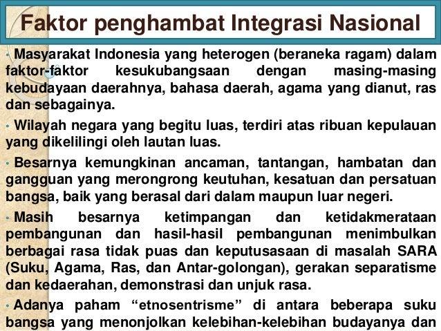 Ppt Integrasi Nasional Dari Kelompok 2 Prodi Pend Bk Unsri