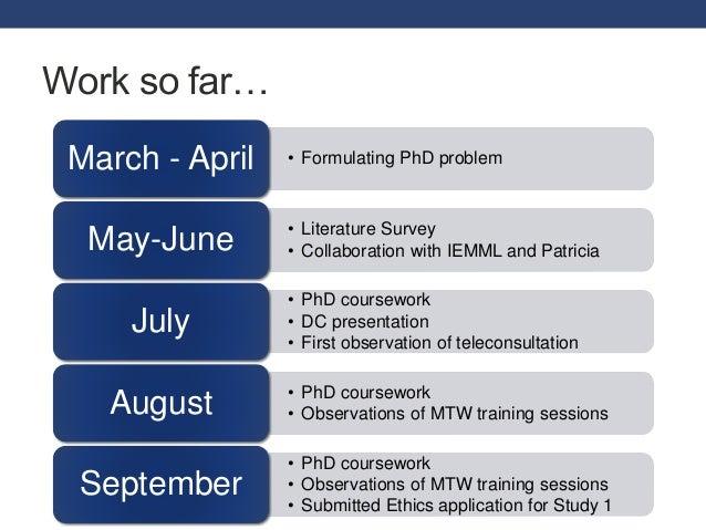 thesis progress presentation