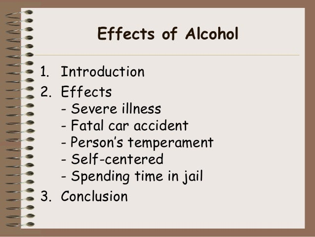 Causeeffect Essay Effects Of Alcohol