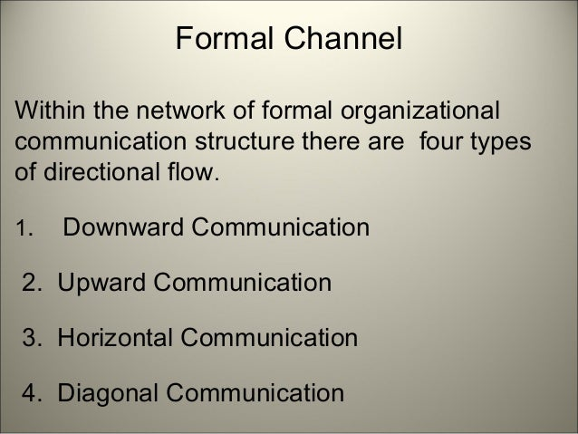 Top 5 Types of Communication Flow | Organization