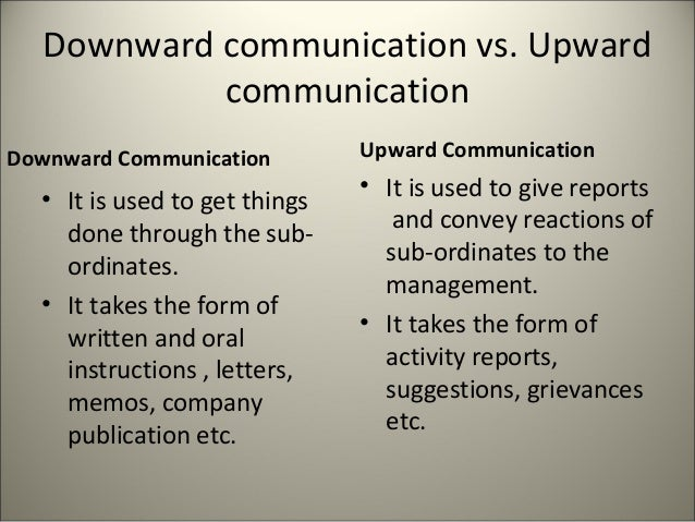 what is downward communication and upward communication