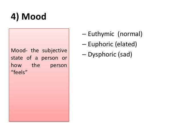 expression of a persons mental state essay Mental status exam mental status is the total expression of a person's emotional responses, mood, cognitive function, and personality it is closely linked to the individual's executive functioning, ie motivation, initiative, goal formation, planning and performing, self-monitoring, and integration of feedback the mse is one component of an exam.