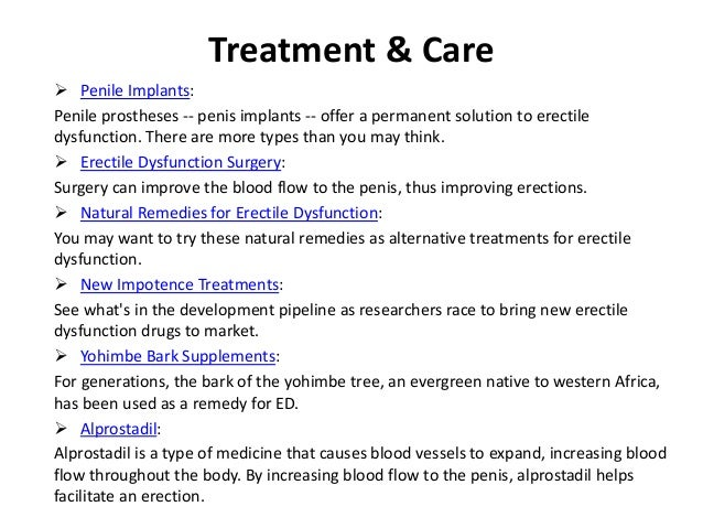 Sexual impotence causes and treatment