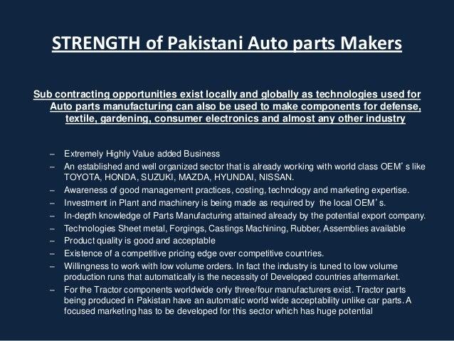 auto parts industry pakistan