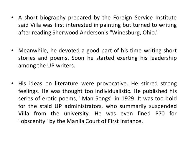 footnote to youth characters Free essay: title: footnote to youth author: jose garcia villa characters: 1 dodong - main character of the story who got married at the age of.