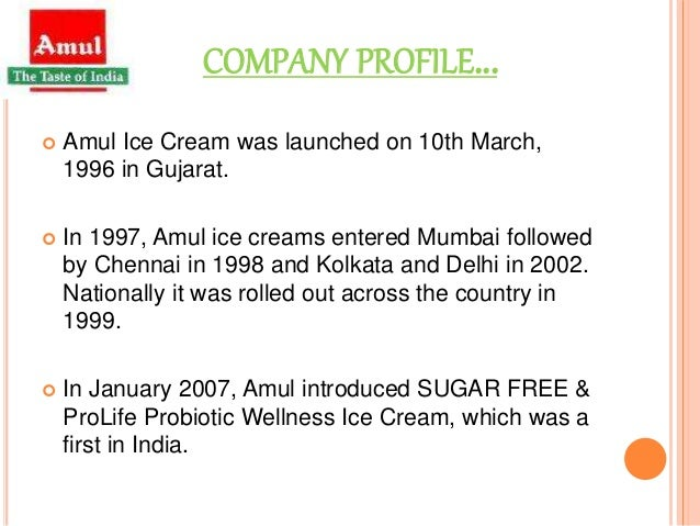 vision statement of amul ice cream Hul wins ice cream ad lawsuit against amul in bombay high court  ie frozen  desserts by making false statements of facts with regard to the.