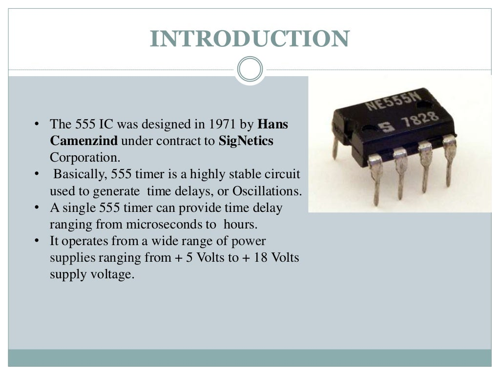 555 Timer Ppt By Vishnu Generating A Delayed Pulse Schematic
