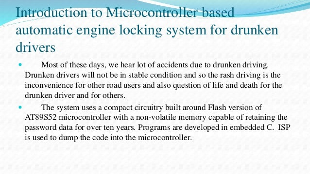 Microcontroller based automatic engine locking system for