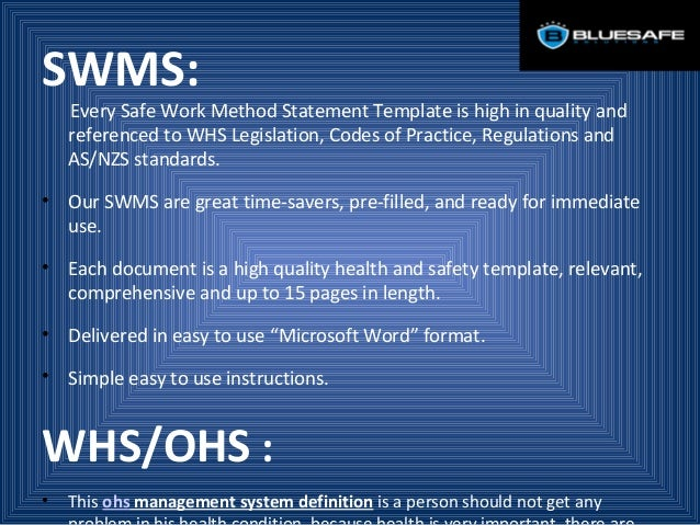 Health Is Very Important While Working At A Place – Health and Safety Method Statement Template