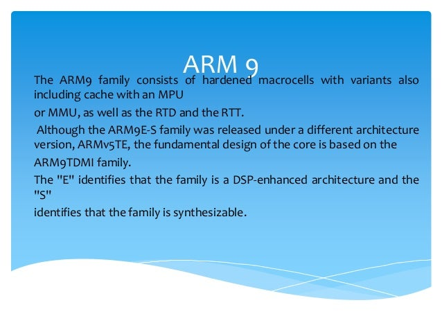 ARM9TDMI ARCHITECTURE PDF DOWNLOAD