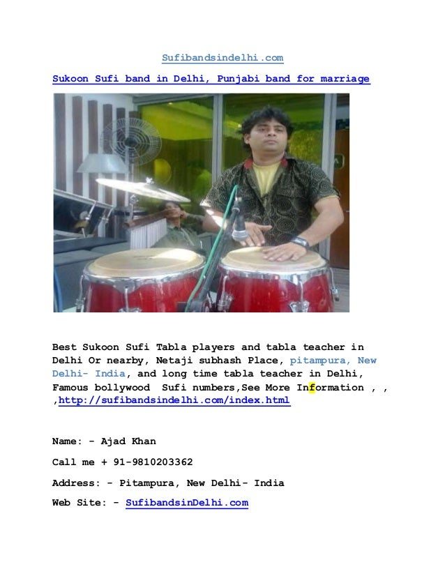 Sufibandsindelhi.com Sukoon Sufi band in Delhi, Punjabi band for marriage Best Sukoon Sufi Tabla players and tabla teacher...
