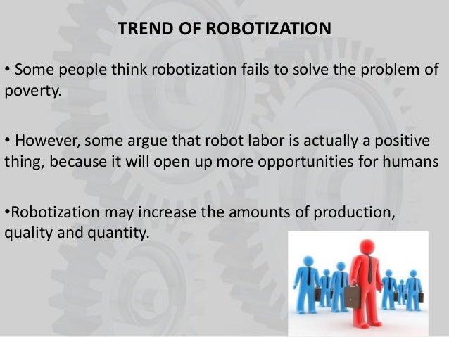 Robotization and world poverty