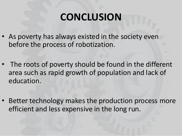 connection between robotization and poverty conclusion bull as poverty