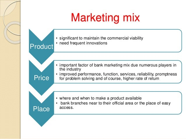 marketing mix bank of america In banking, the best marketing plans leverage opportunities, unify focus and optimize resources  5 keys to crafting strategic bank marketing plans.