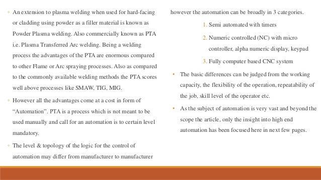 CNC PTA hardfacing and cladding system
