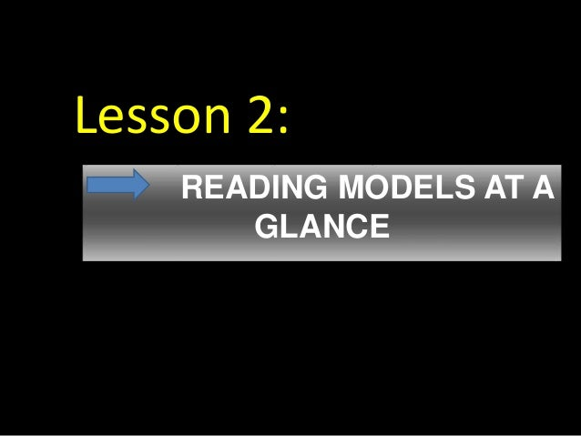 Lesson 2: READING MODELS AT A GLANCE