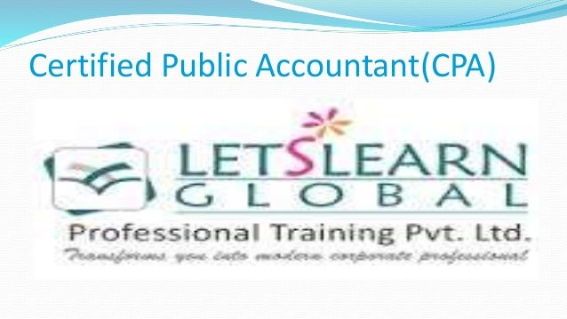 Certified Public Accountant(CPA)