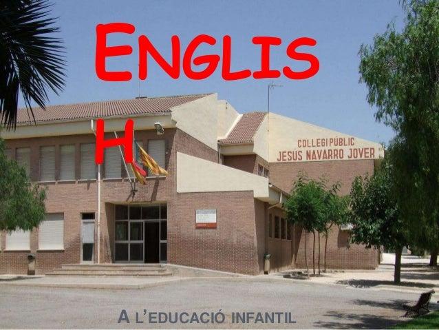A L'EDUCACIÓ INFANTIL ENGLIS H