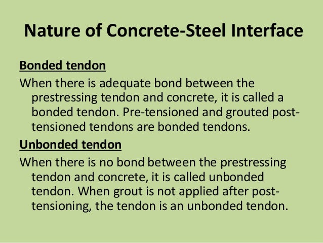 Bonded Post Tensioning : Ppt